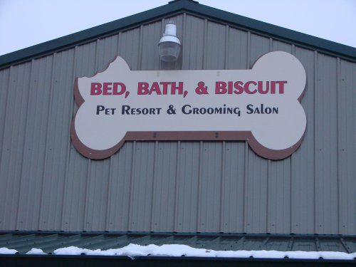 Bed bath and biscuit boarding kennel for A bath and a biscuit grooming salon